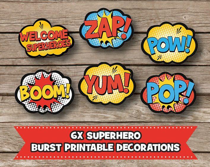 Digital Art For All You Robots — 6x Superhero Burst Party ...