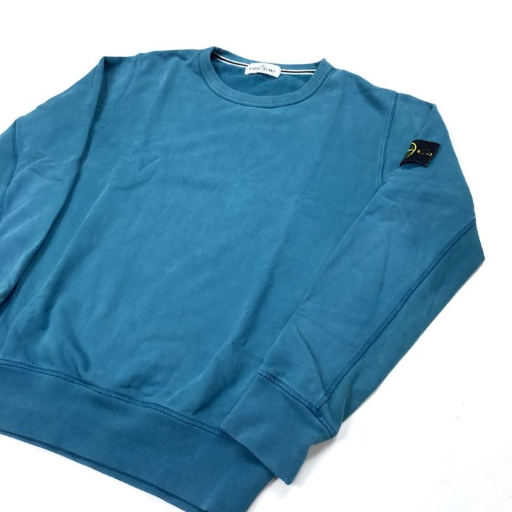 Image of Stone Island AW/2011 Turquoise Crewneck Jumper