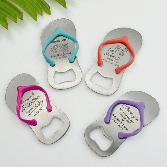 Australian Made ~ 50 Mini Wedding Thong Flip Flop Bottle Gift by PersonalisedFavours