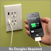 Pretty stinkin awesome!!   ThinkGeek :: U-Socket USB WallplugIdeas, Gadgets, Wall Outlets, Usb Wall, Usb Functional, Usb Outlet, House, Home Depot, Products