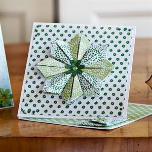 Chelsea Green Tea Bag Folding Twisted Easel Card