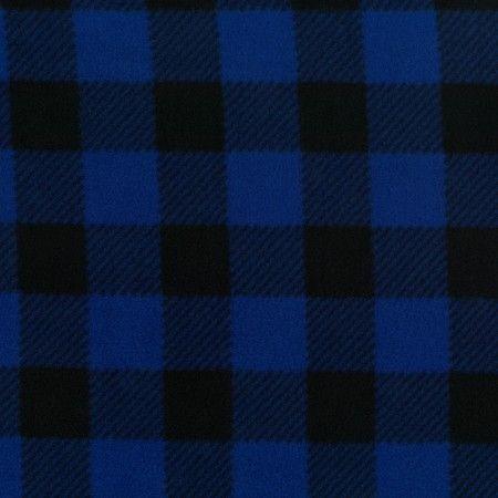 Mountain Fleece Prints - Buffalo check - Blue