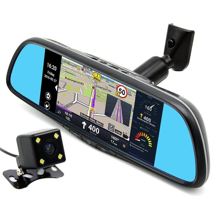 "junsun Dash Cam 7"" Touch Honda Special Car DVR Camera Mirror GPS Bluetooth 16GB FHD 1080p Video Recorder"