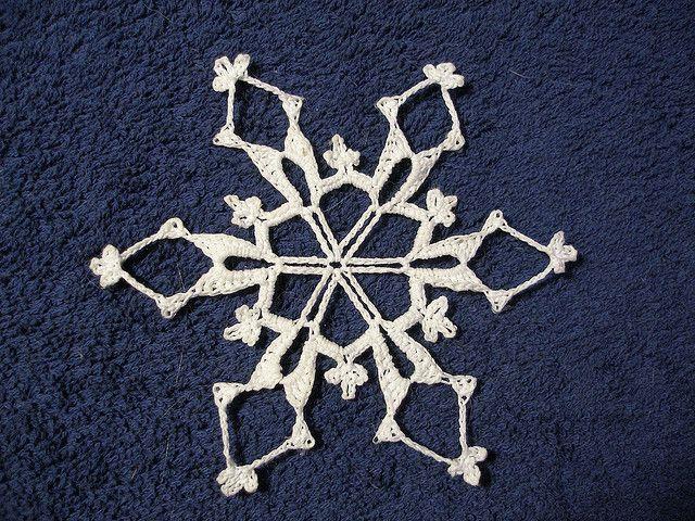 34 mejores imágenes en Crochet Snowflakes free patterns en Pinterest ...