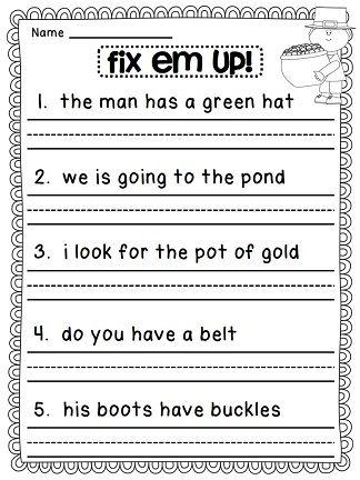 28 best fix sentences kindergarten images on pinterest writing sentences frases and sentences. Black Bedroom Furniture Sets. Home Design Ideas