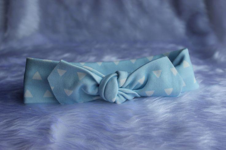 NEWBORN Baby Blue & Triangles SKinny Bandana Knot by HarlzandHaven on Etsy https://www.etsy.com/listing/227133150/newborn-baby-blue-triangles-skinny