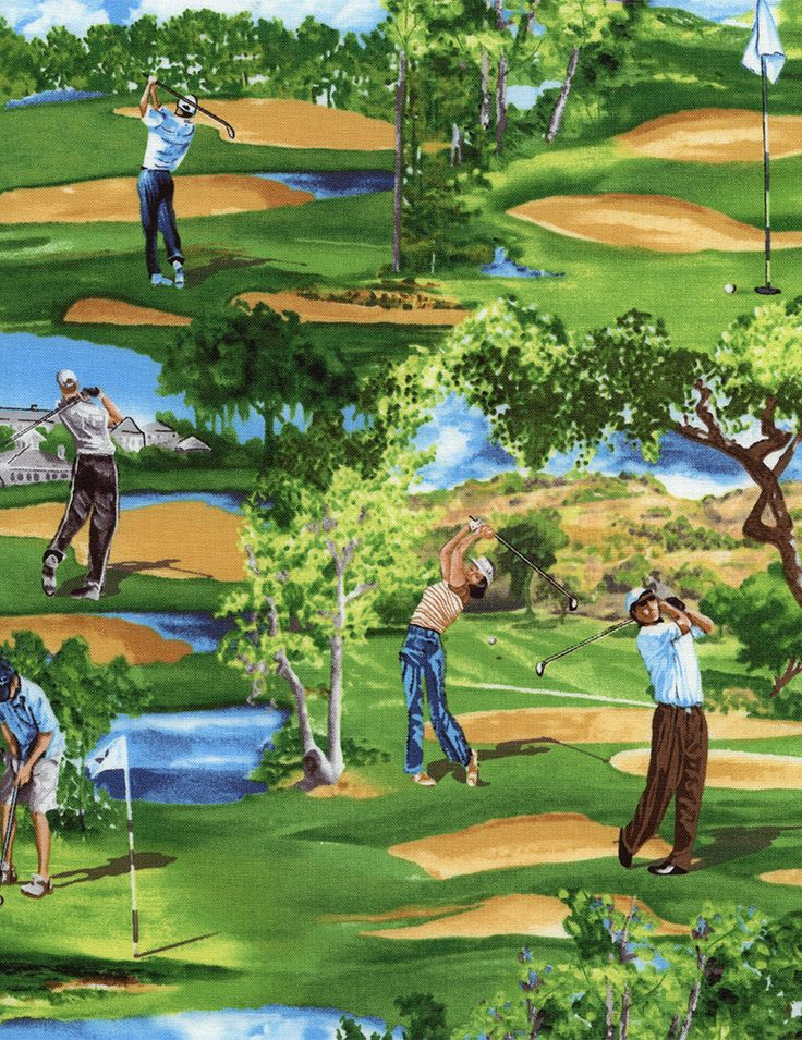 Golf Panels For Quilting Golf Fabric Timeless Treasures