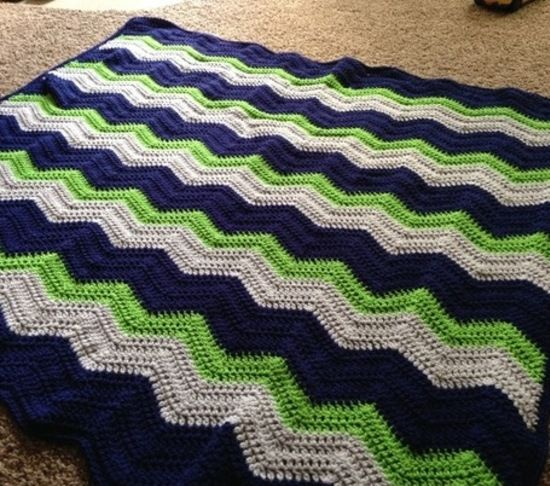 Chevron Baby Blanket, great pattern to try and replicate!