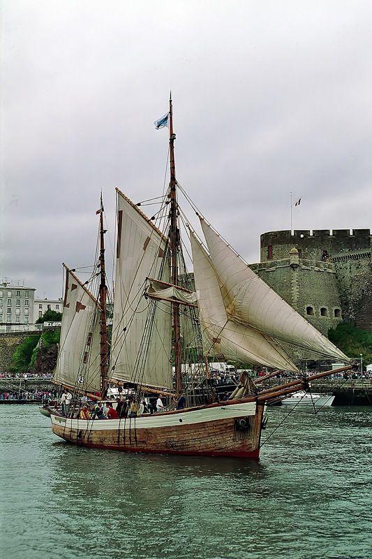 Traditional sailing ship, Brest, Bretagne, France