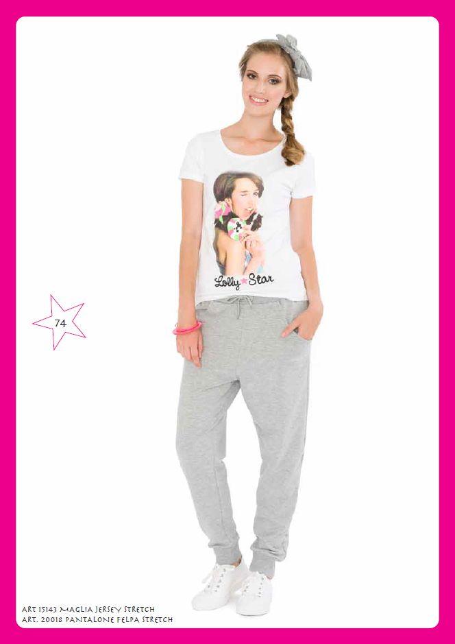 #Tshirt jersey e pantalone #felpa stretch #LollyStar - Scopri tutta la collezione qui --> http://www.lollystar.it/