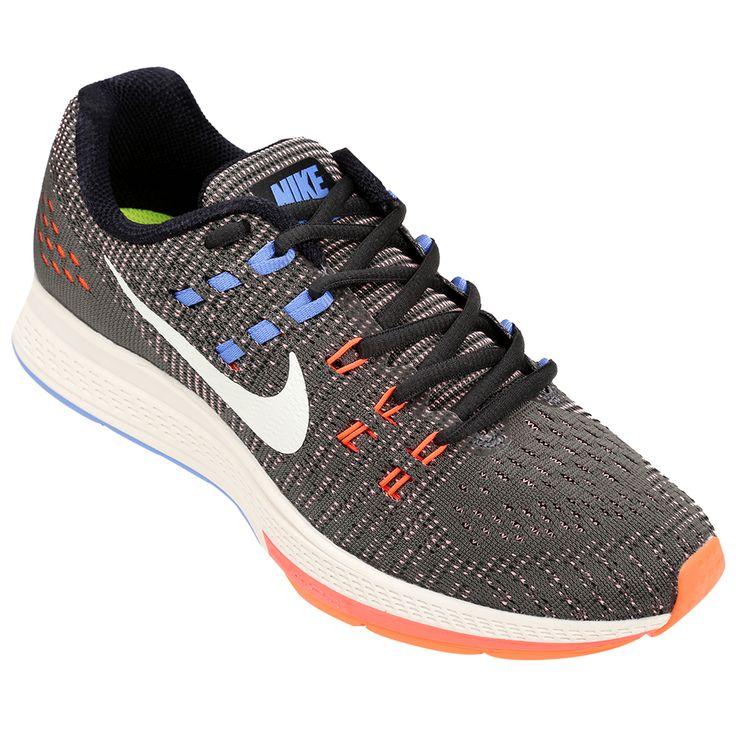 Zapatillas Nike Structure 19 Azul e Naranja | Netshoes