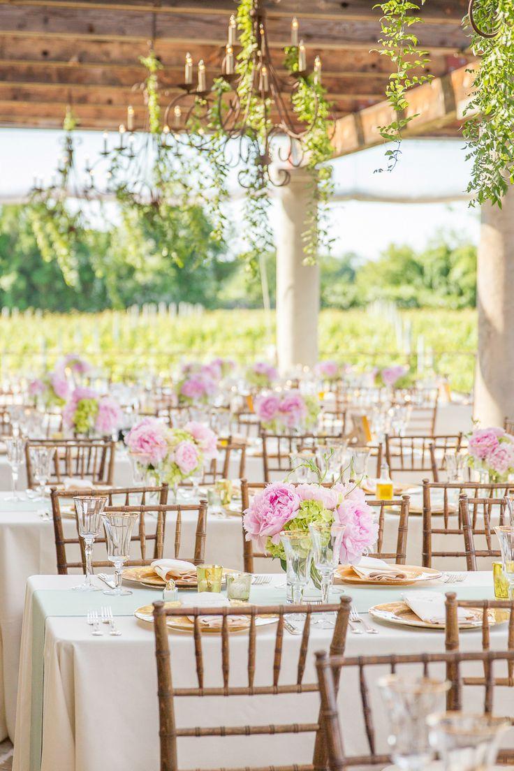 Summer or Spring Wedding - Peonies and Hydrangeas - On SMP: http://www.stylemepretty.com/new-york-weddings/2013/11/12/wolffer-estate-vineyard-wedding-hamptons-new-york-from-melani-lust-photography   Photography: Melani Lust