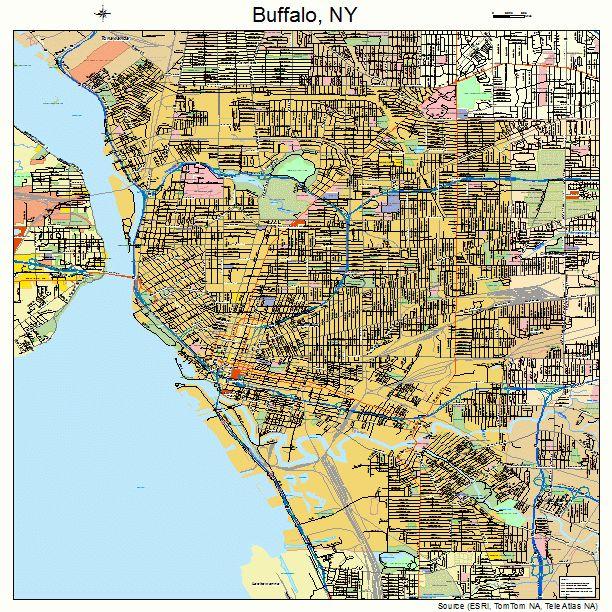 Buffalo New York Street Map 3611000  Buffalo New York
