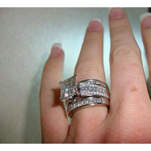 Ct Center Stone Princess Cut Engagement Ring I Just Want The Middle With Coordinating Bands Available