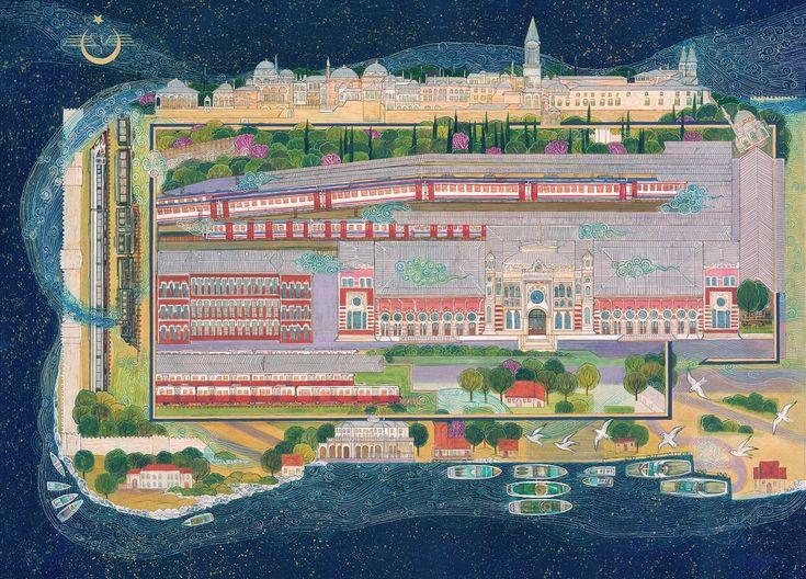 """Istanbul Sirkeci Terminal"" by Gulcin Anmac."