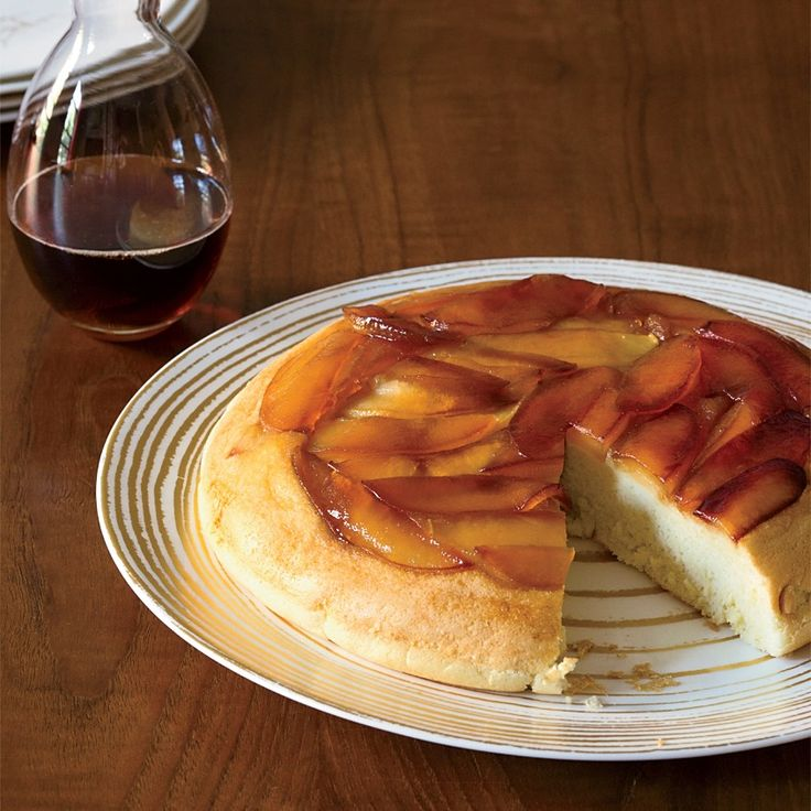Maple-glazed sautéed apples topped with an egg-white-lightened pancake batter become a deliciously satisfying brunch dish.