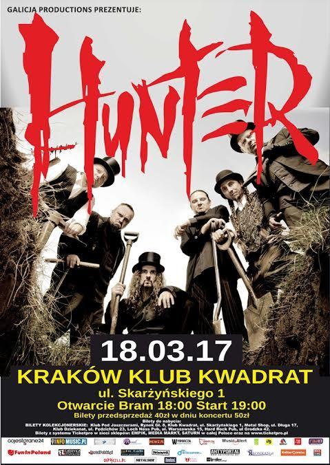 Galeria zdjęć z koncertu Hunter w Krakowie-> http://heavy-metal-music-and-more.blogspot.com/2017/03/hunter-zagra-koncert-w-krakowie-galeria.html