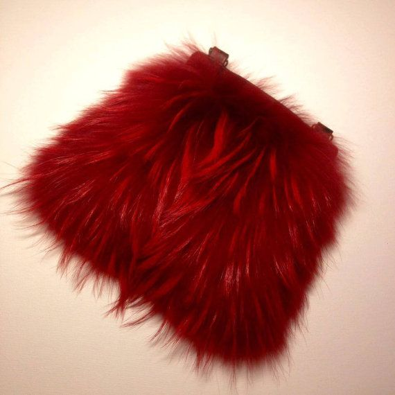 High Quality Real Raccoon Fur Crossbody Bag RED by TrixiCookies
