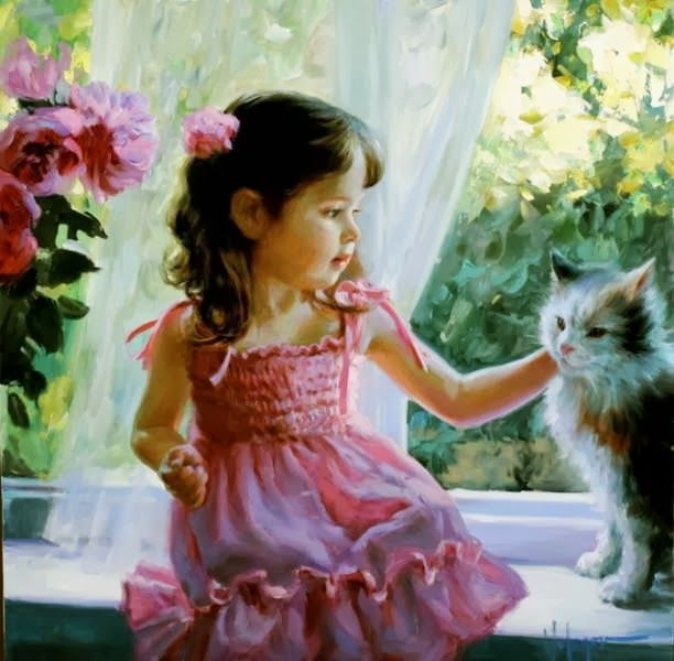 61 best images about paintings of children on pinterest for Oil painting for kids