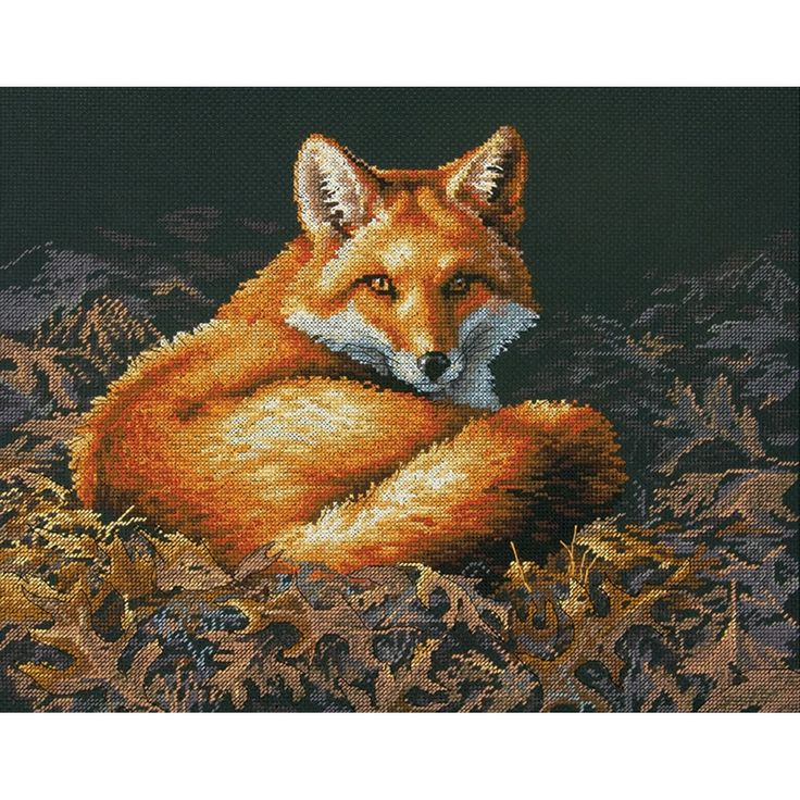 "Dimensions Sunlit Fox Counted Cross Stitch Kit-14""X11"" 14 Count - 14""x11"" 14 count"