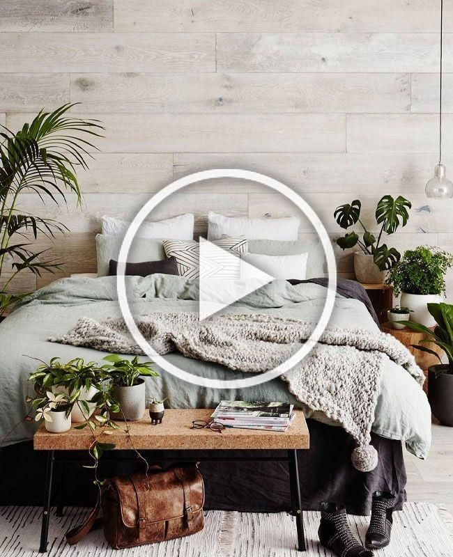 Deco Chambre Nature Mur En Bois Banc Pied De Lit Ikea En Liege Accumulation De Plantes Linge De L In 2020 Bedroom Decor Design Diy Bedroom Decor Bedroom Decor Cozy