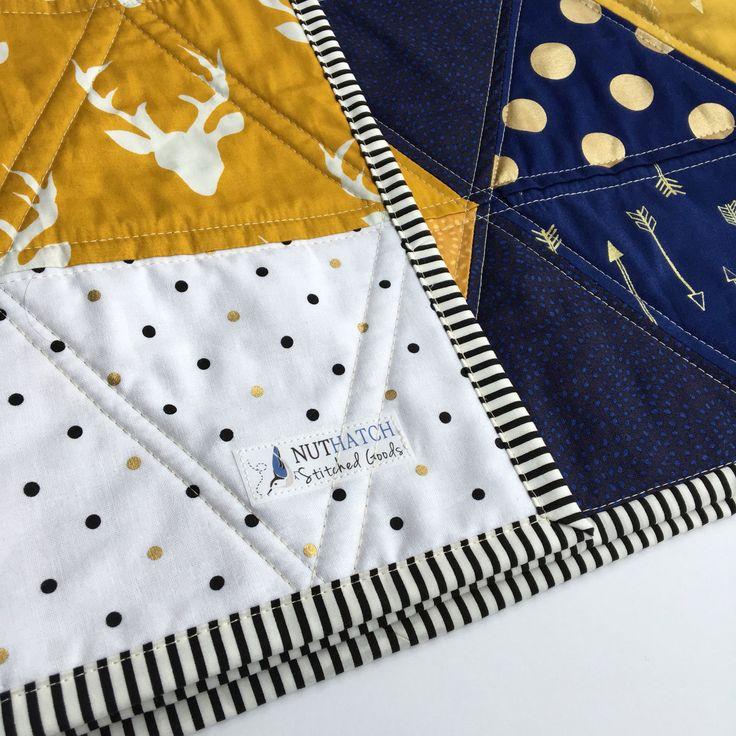 Triángulo edredón colcha moderna moderna bebé colcha manta