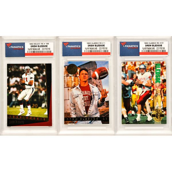 Drew Bledsoe New England Patriots 3 Card Rookie Collection - $34.99