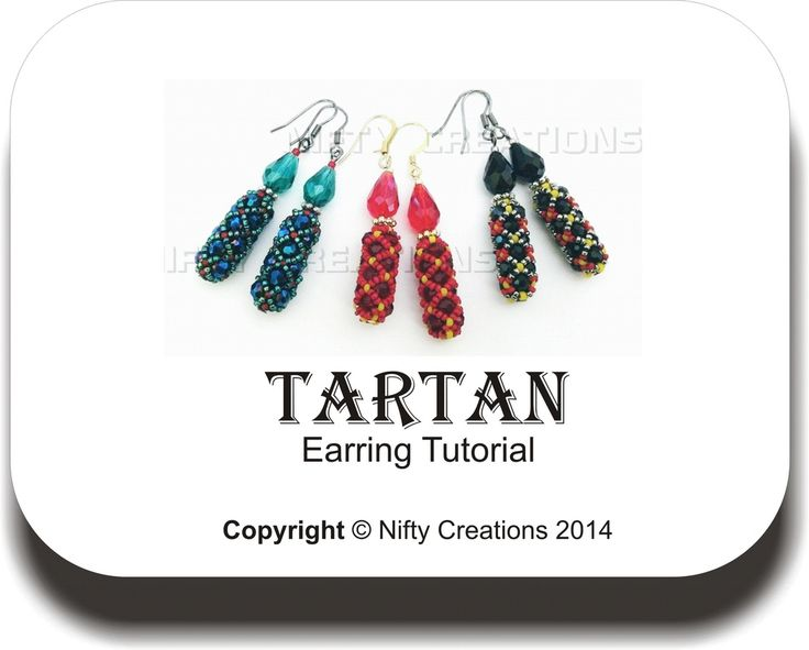 Tartan Earring Tutorial Digital download $6 www.niftycreations.com.au