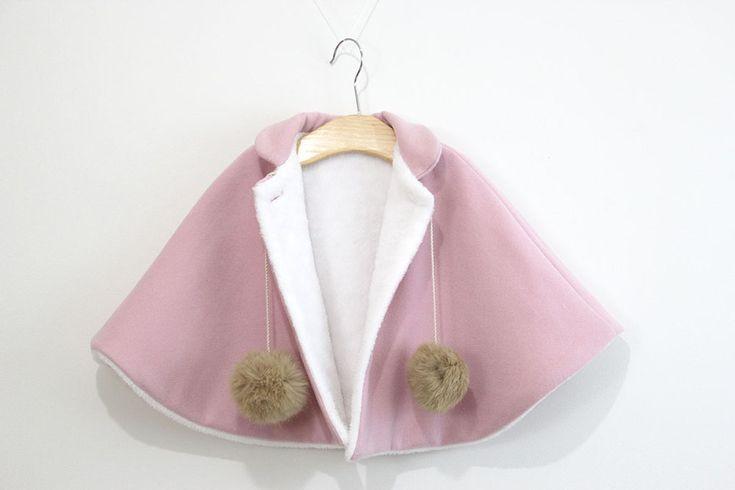 DIY Patrones gratis de abrigo tipo capa para niña