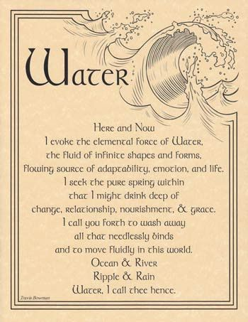 This is one of my favorites on Wiccan Supplies, Witchcraft Supplies & Pagan Supplies Experts-Eclectic Artisans: Water Evocation poster
