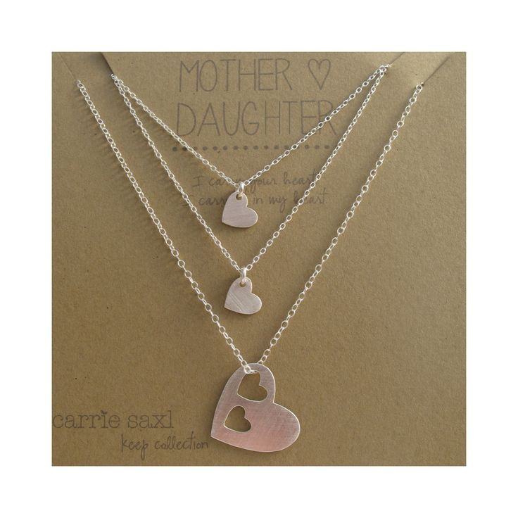 Mother Daughter Necklace Set mother two daughters by carriesaxl, $96.00