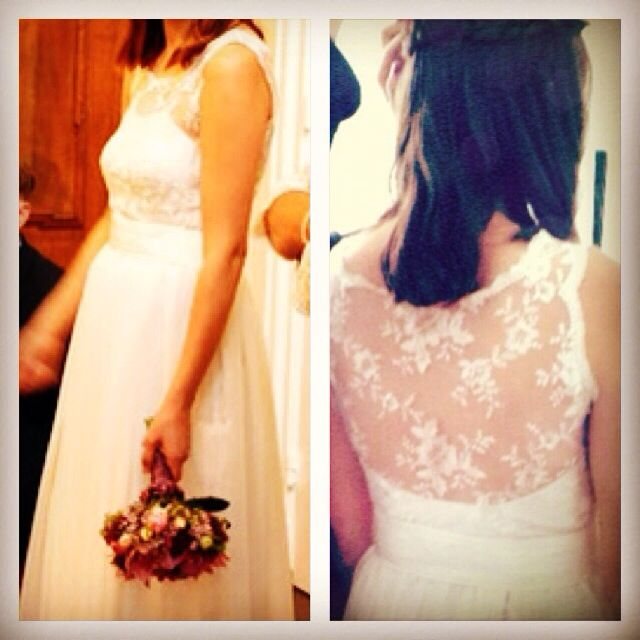 #Hochzeit #Kleid #Spitze #Seide #Taft #Chiffon #Ivory #Handarbeit #Einzigartig #Mode …   – Wunderwelt-couture