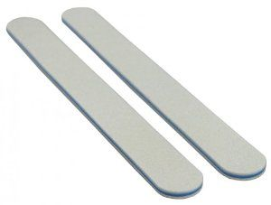 White 80/100 (Blue Ctr) Washable Nail File 12 Pack by Nail File Guru. $7.93. Shapes enhanced nails. Washable. Made in USA. Durable & long lasting. Quickly smooths seams & reduces edges on acrylic nails & tips. White 80/100 washable, cushioned nail file specially designed for professionals or home use. These cushioned nail files provide for a better grip and ease of use.