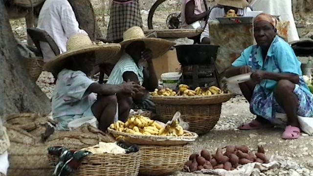 The best food is in the street markets on the roadsides in Port Au Prince, Haiti