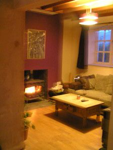 Home using a combination of log burner & Solar Thermal