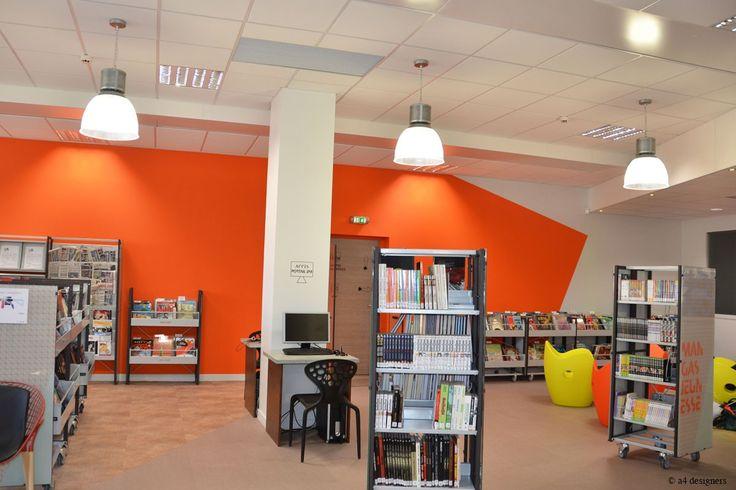 Origami · A4 Designers · Signalétique de la bibliothèque de Fontaine d'Ouche / Dijon
