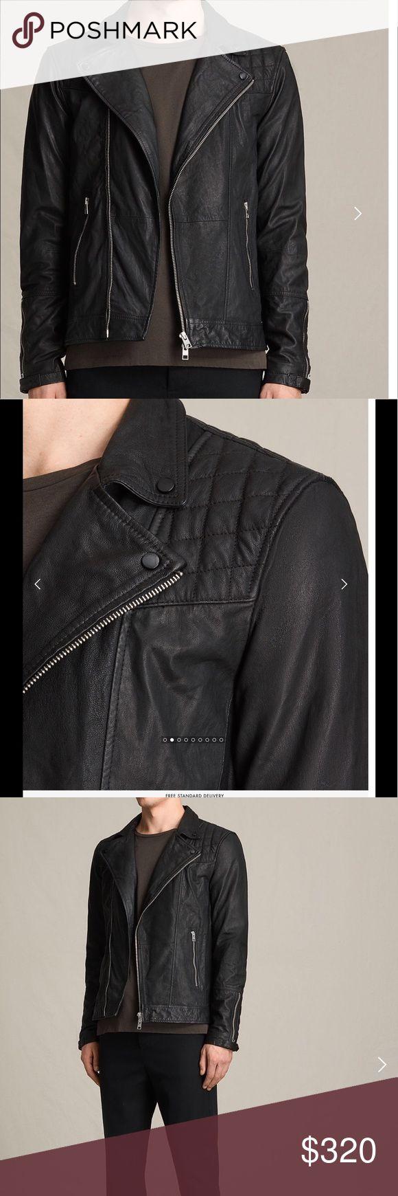 All Saints Kushiro Leather Biker Jacket - Medium All Saints Kushiro Leather Biker Jacket - Medium. Worn twice and looks brand new All Saints Jackets & Coats
