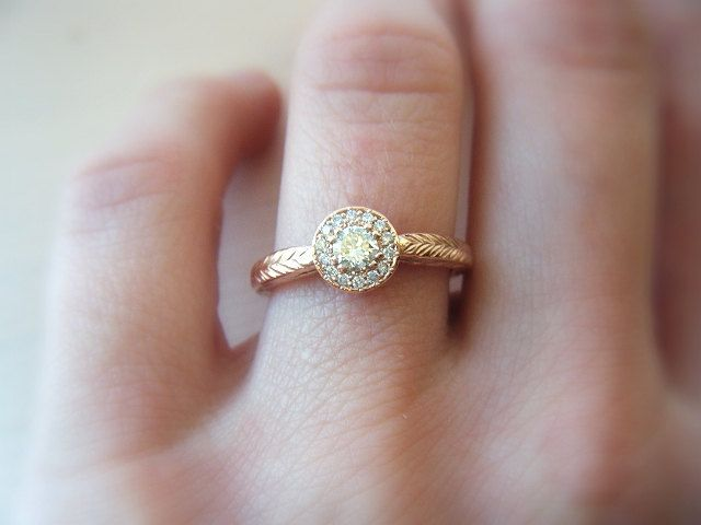158 best Gold Diamond Engagement Ring images on Pinterest