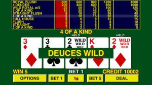 Tangan Instruktif Deuces dan Joker Wild Video Poker - website informasi casino