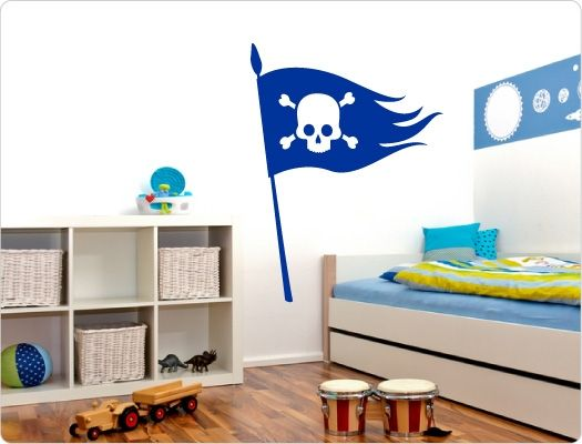 Awesome Kinderzimmer Wandtattoo Piratenfahne