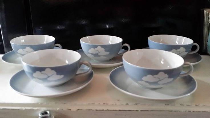 5 oude douwe egberts theekopjes. marktplaats