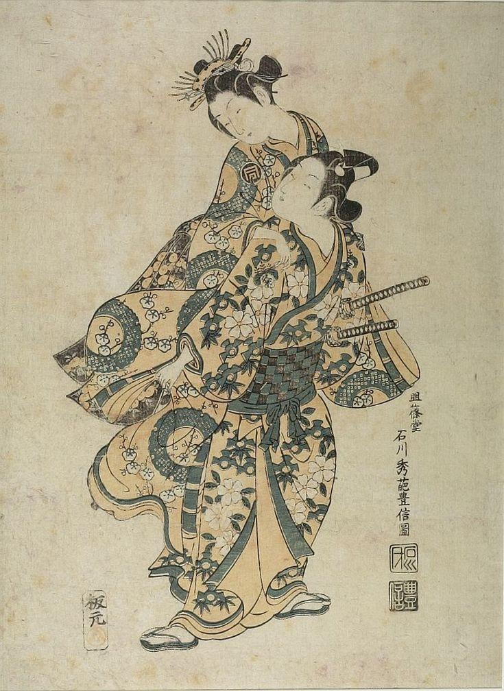 Ishikawa Toyonobu: TWO ACTORS AS LOVERS - Harvard Art Museum