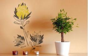 Artistic proteas vinyl wall art