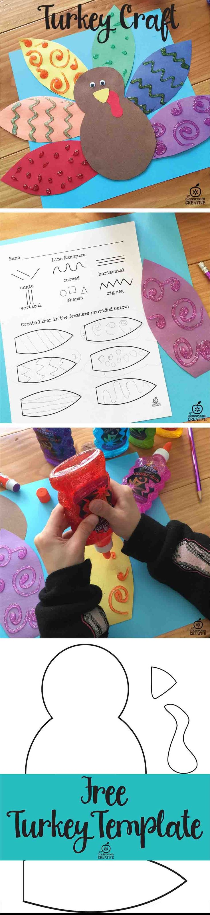 Turkey craft alert! Grab this freebie to hone in on those fine motor skills and pattern recognition to create a cute turkey!