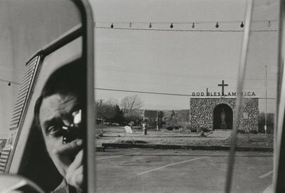 Lee Friedlander, Self Portrait, Route 9W, NY, c. 1965