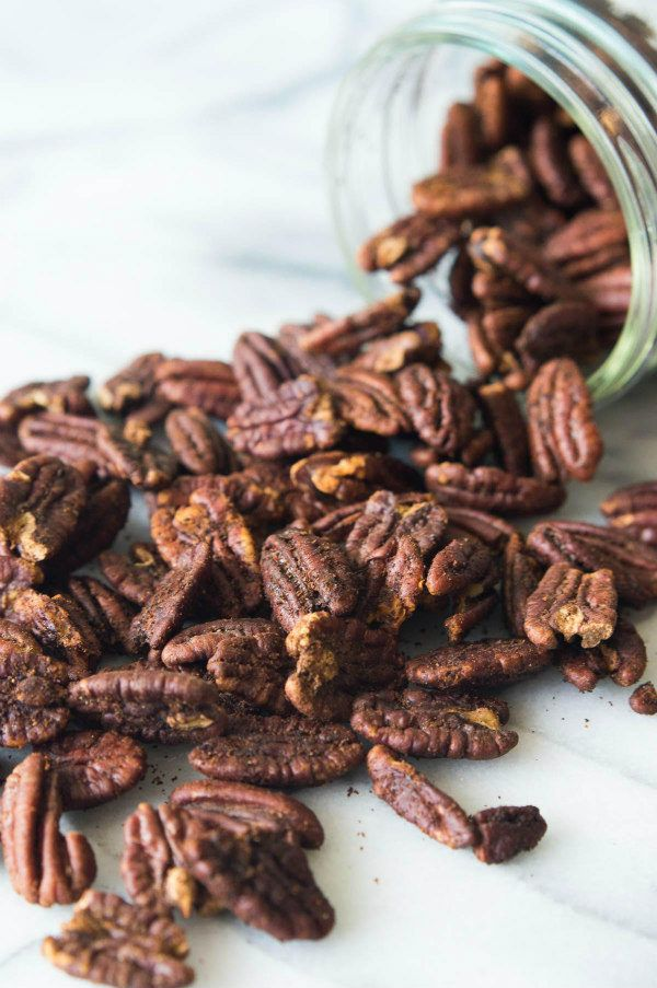 Hot and Spicy Pecans recipe - from RecipeGirl.com