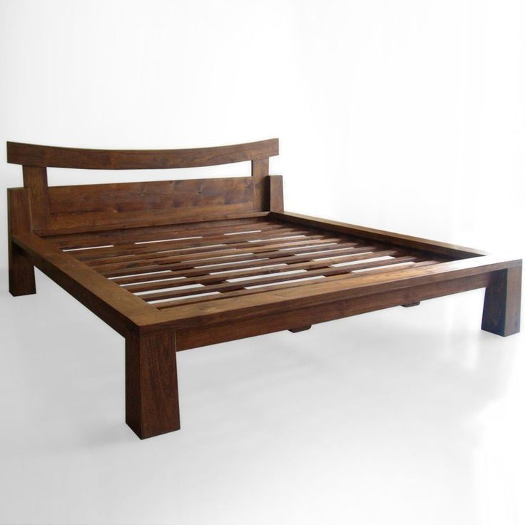 Asian bed platform style teak like