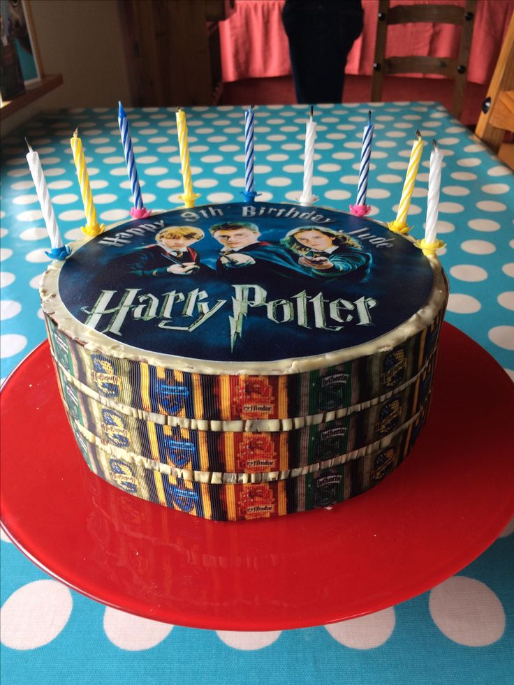 Harry Potter Birthday Cake for my 9 year old son.