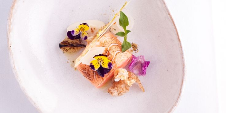 Michelin-starred chef Lisa Allen cooks salmon sous vide to ensure a perfectly cooked, tender finish in this colourful seafood starter recipe.