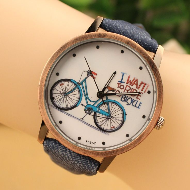 I Want To Ride Bicycle Unisex Black Strap Teen Watch